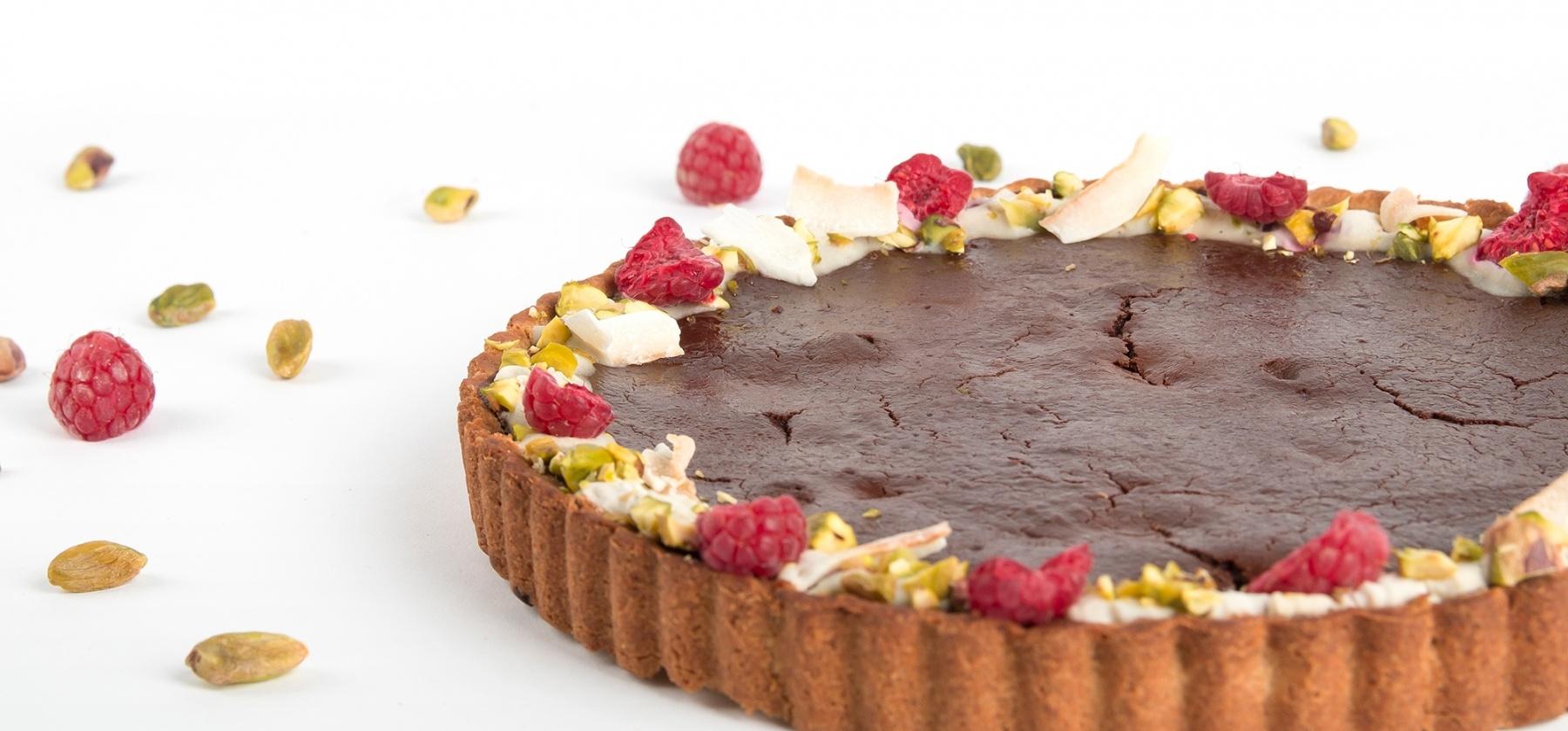 Raymond  - feestelijke chocolade frambozentaart