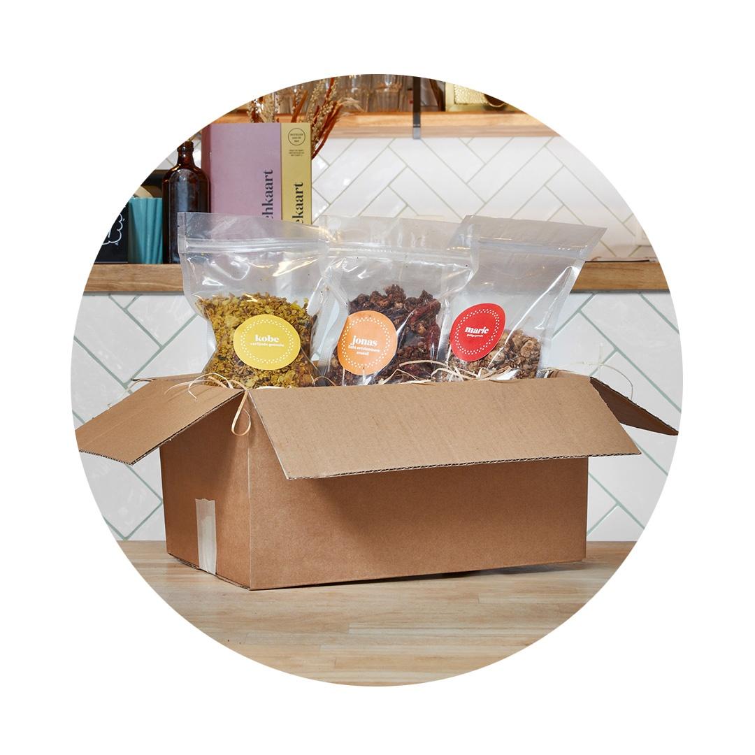 Granolabox ook BPost  - Krokante secret stash voor ontbijtliefhebbers om al dan niet te delen met je huisgenoten